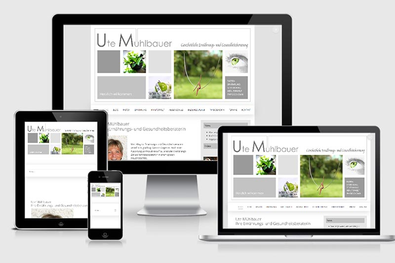 Ute Muehlbauer Website Relaunch